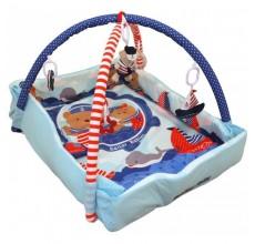 Saltea de joaca cu protectii laterale Sailor Babies