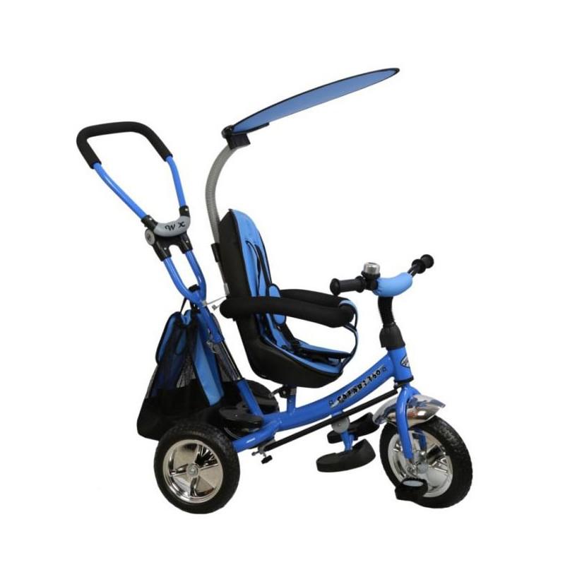 Tricicleta cu sezut reversibil Safari Break 360° Blue