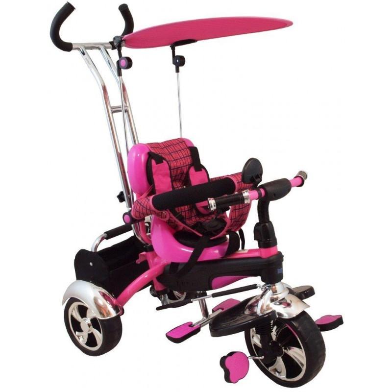 Tricicleta multifunctionala Happy Days - roz