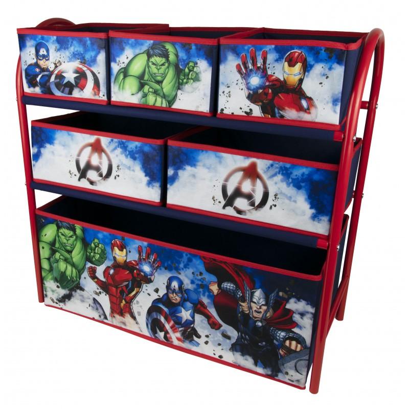 Organizator jucarii cu cadru metalic Avengers
