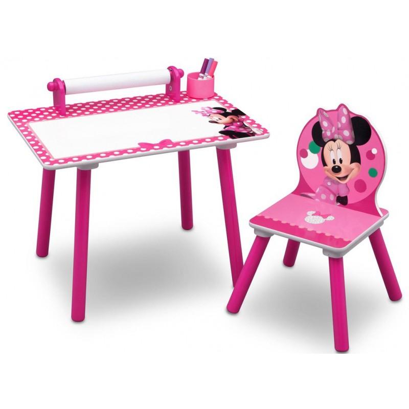 Set masuta pentru creatie si 1 scaunel Minnie Mouse