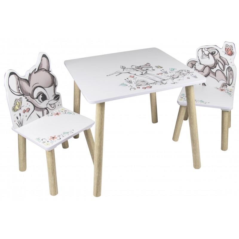 Set masuta si 2 scaunele Bambi