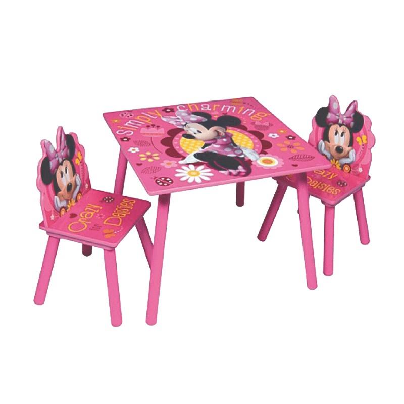 Set masuta si 2 scaunele Minnie Mouse Simply Charming