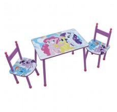 Set masuta si 2 scaunele My Little Pony