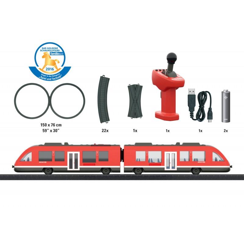 Tren de calatori cu sine si telecomanda Regio Lint Starter Set