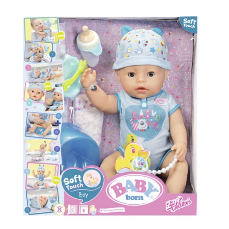 BABY BORN - Papusa INTERACTIVA (baietel)