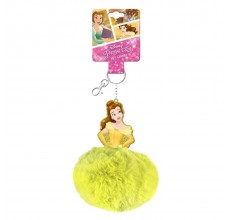 Breloc cu puf printesa Belle Disney
