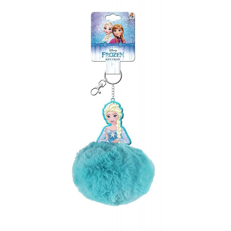 Breloc cu puf printesa Elsa Frozen Disney