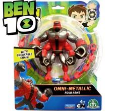 Figurina Ben 10 - 4 Brate (12 cm) - Omni-Metallic
