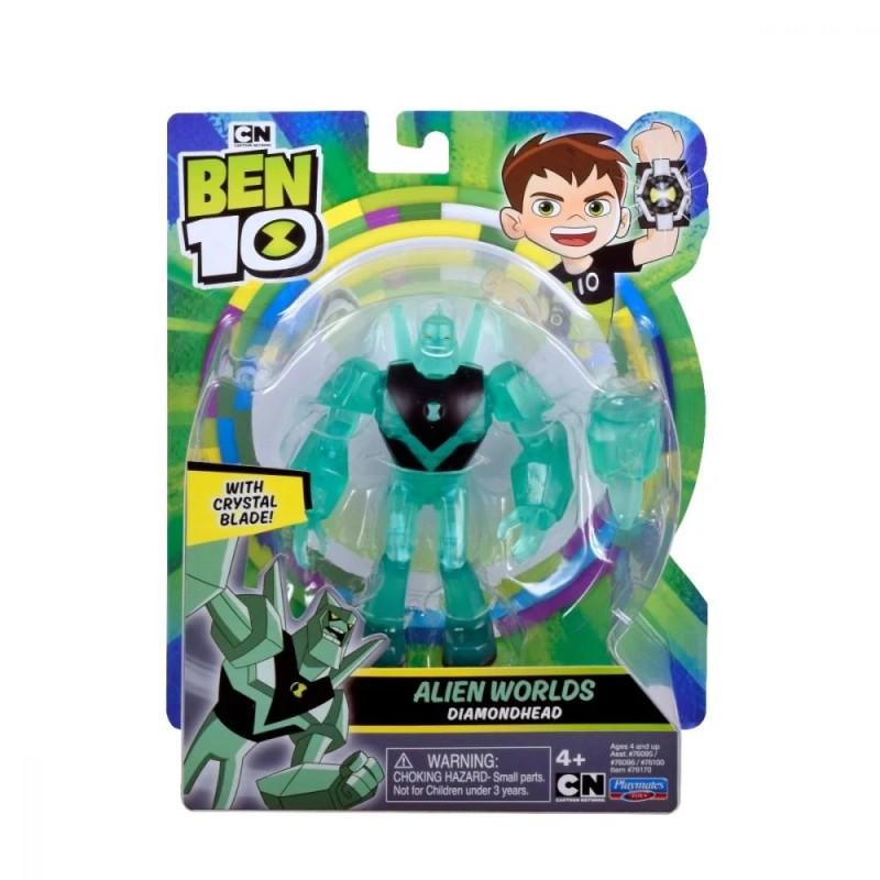 Figurina Ben 10 - Cap de Diamant (12 cm) - Alien Worlds