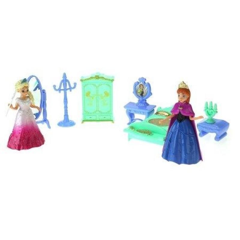 Figurina printesa Elsa Frozen cu mobilier