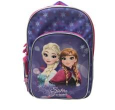 Ghiozdan tip rucsac scoala Elsa si Anna Frozen Disney (cu glitter)