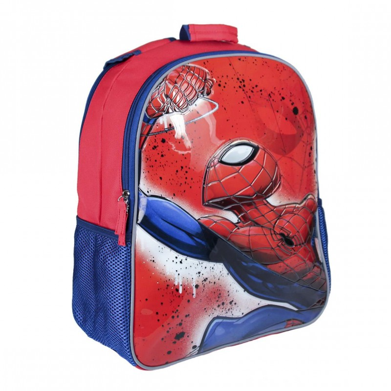 Ghiozdan tip rucsac scoala Spiderman cu doua fete