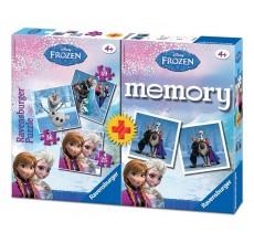 Joc Memory si puzzle 3 in 1 Frozen Disney
