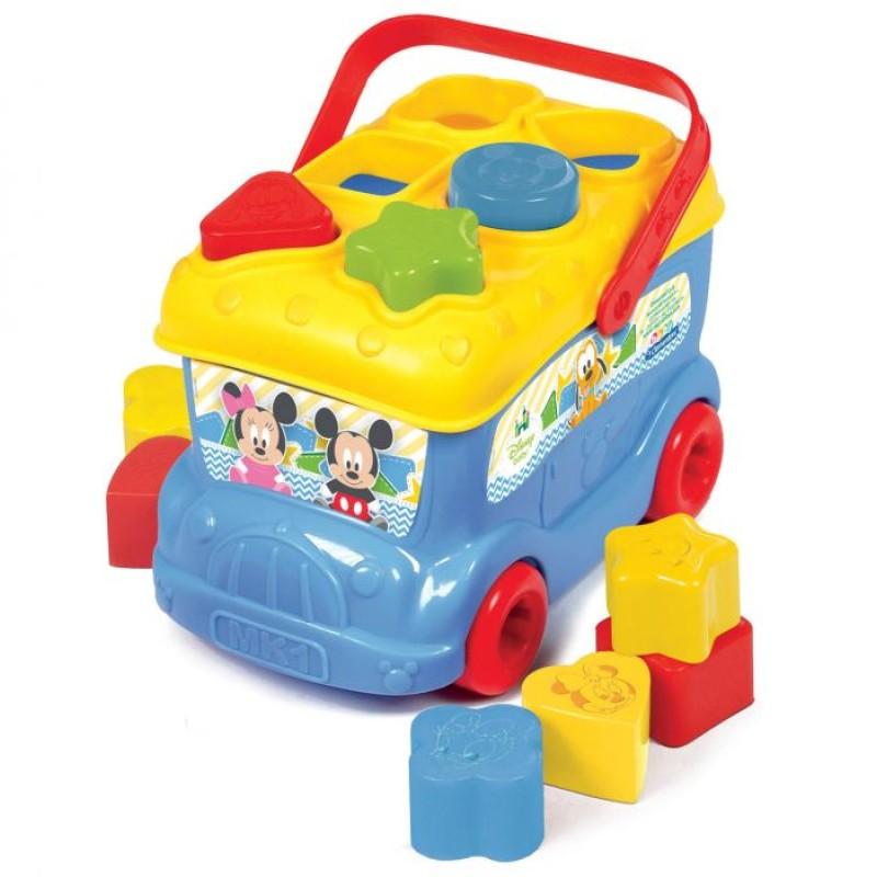 Jucarie bebe Mickey Mouse Disney autobuz pentru sortat forme
