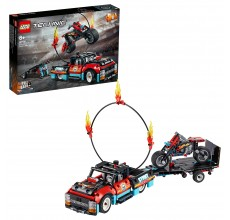 LEGO TECHNIC - Camion si motocicleta pentru cascadorii