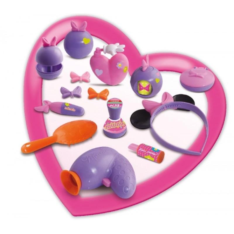 Masuta de frumusete cu scaunel si 14 accesorii Minnie Mouse Disney