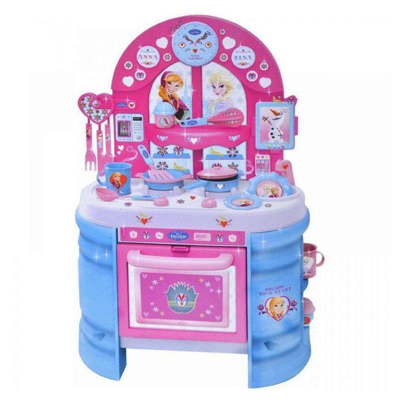 MEGA bucataria Frozen Disney cu 17 accesorii