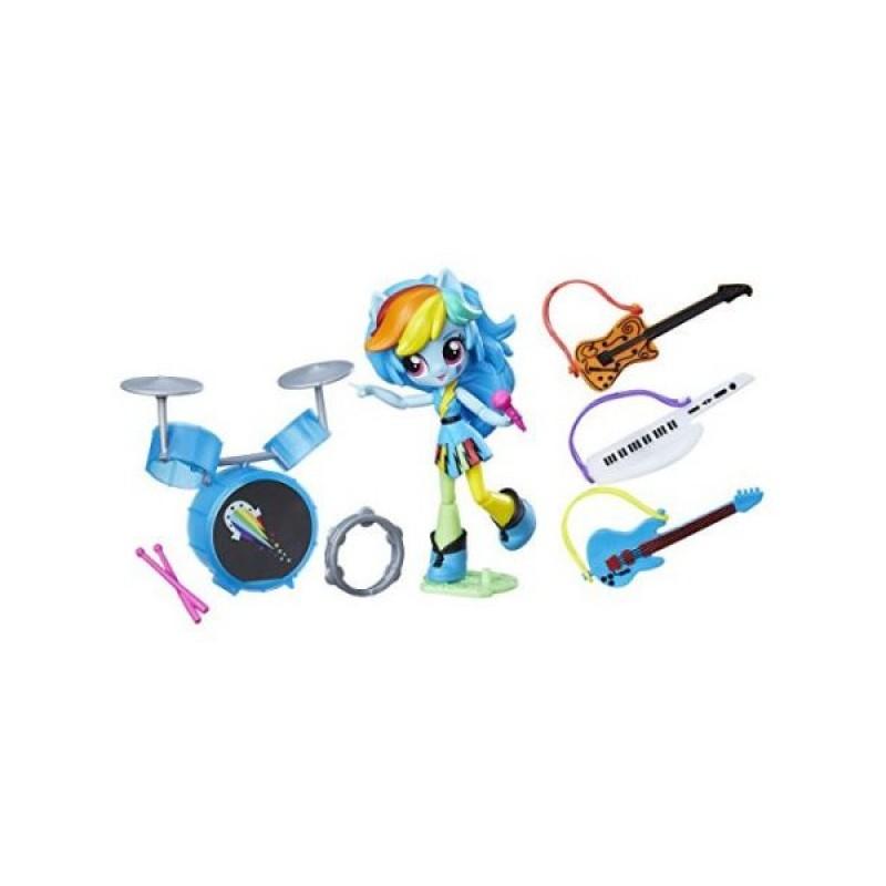 My Little Pony Equestria Girls Minis  - Figurina Rainbow Dash cu accesorii muzicale