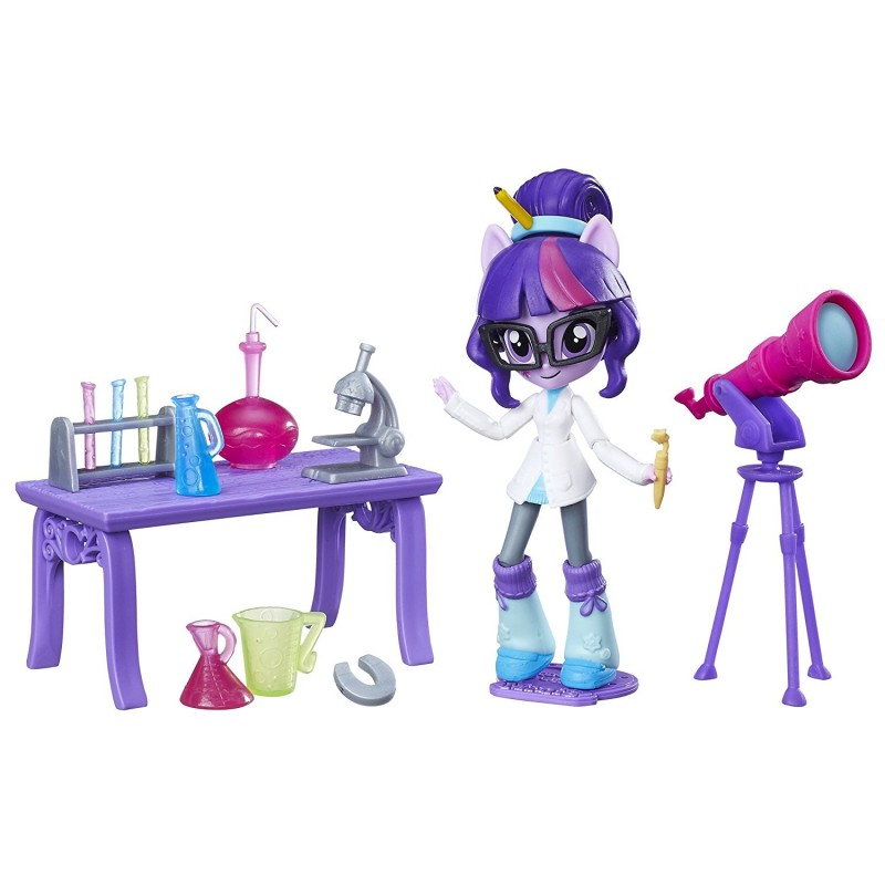My Little Pony Equestria Girls Minis  - Figurina Twilight Sparkle cu accesorii stiintifice