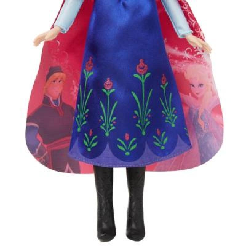 Papusa Anna Frozen Disney cu mantia magica