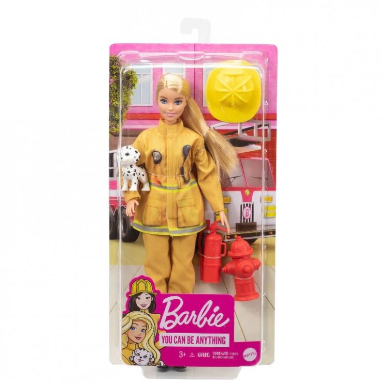 Papusa Barbie - Pompier cu catel si accesorii