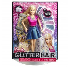 Papusa Barbie cu par stralucitor