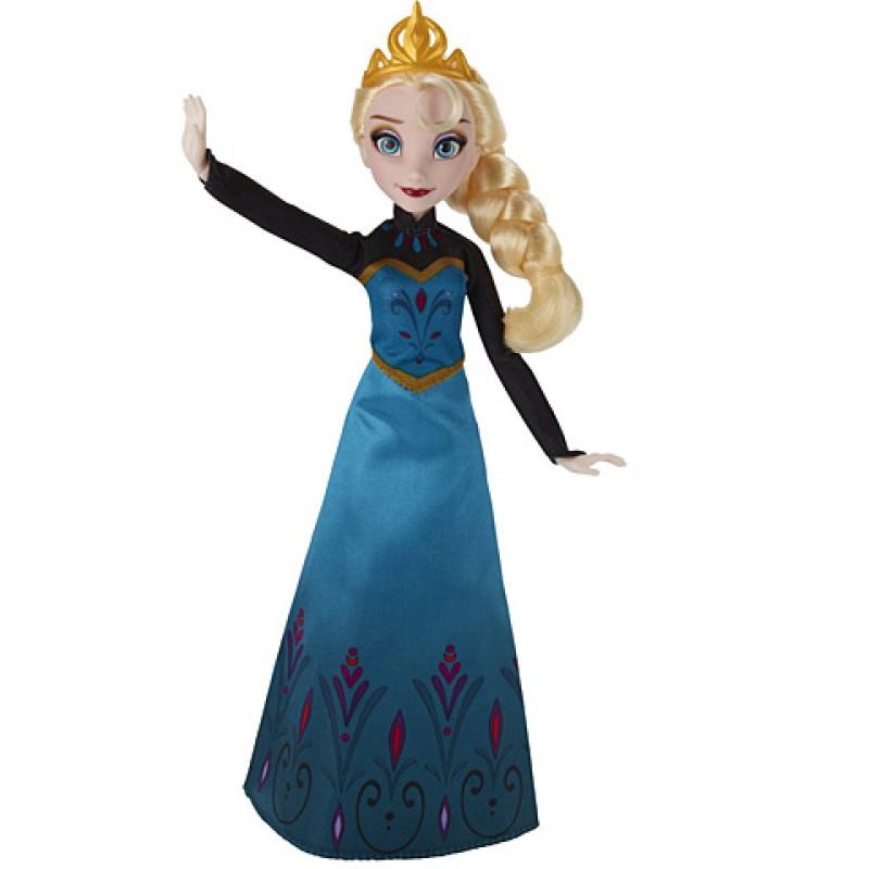 Papusa Elsa Frozen Disney cu 2 rochite