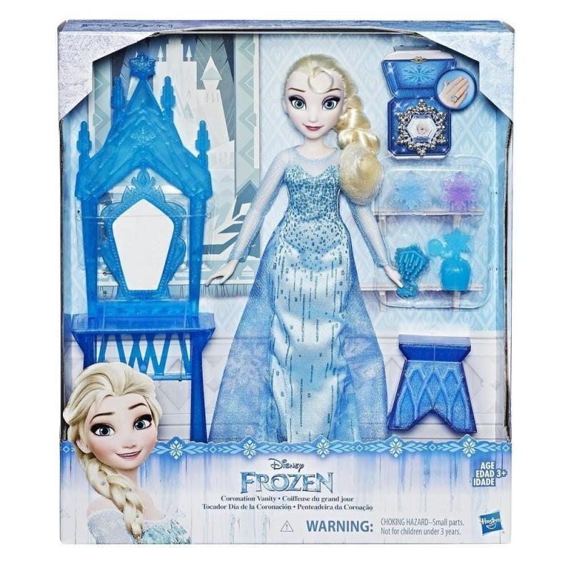 Papusa Elsa Frozen Disney cu accesorii - Ziua Incoronarii