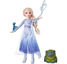 Papusa Elsa Frozen Disney cu prietenii Pabbie si Salamander