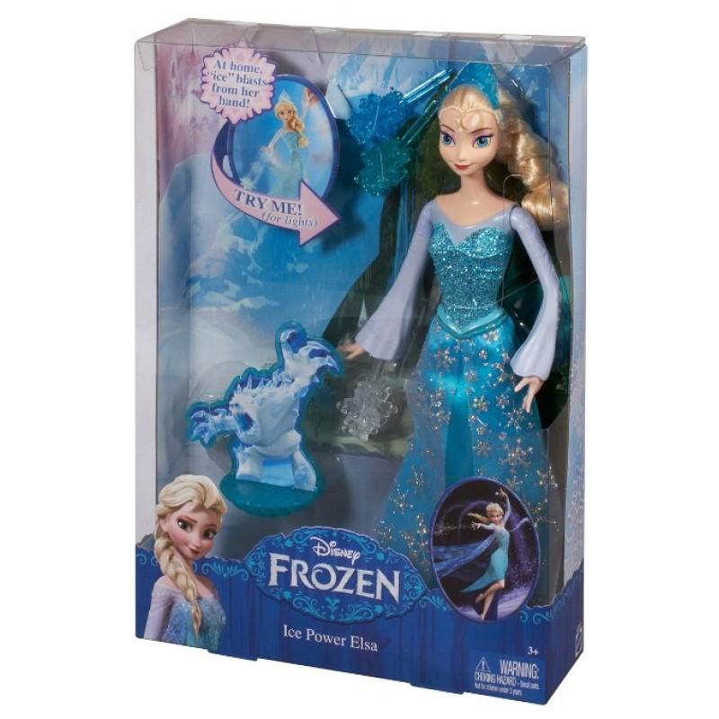 Papusa Elsa Frozen Disney cu puterea ghetii cu lumini