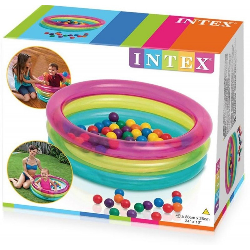 Piscina gonflabila cu 50 bile colorate incluse