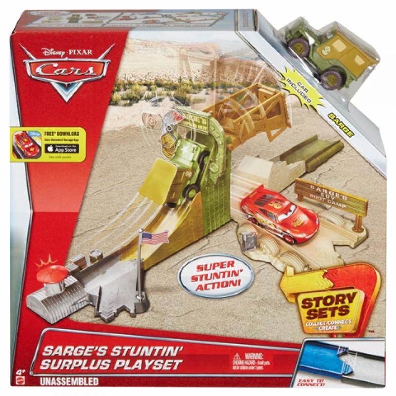 Pista cu lansator Cars Disney si masina Sarge's Stuntin