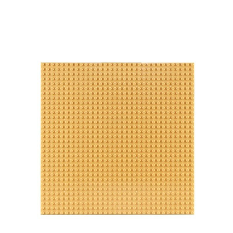 Placa pentru constructii - compatibila LEGO dimensiune medie (galben)