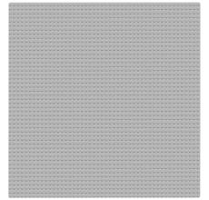 Placa pentru constructii - compatibila LEGO dimensiune medie (gri deschis)