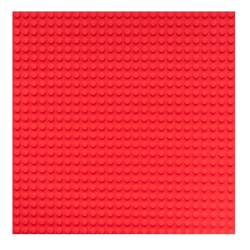 Placa pentru constructii - compatibila LEGO dimensiune medie (rosu)