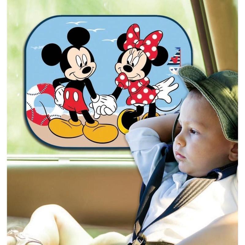 Set 2 parasolare auto cu ventuze Minnie si Mickey Mouse Disney