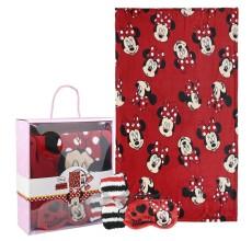 Set cadou Minnie Mouse Disney - paturica, sosete si masca pentru ochi