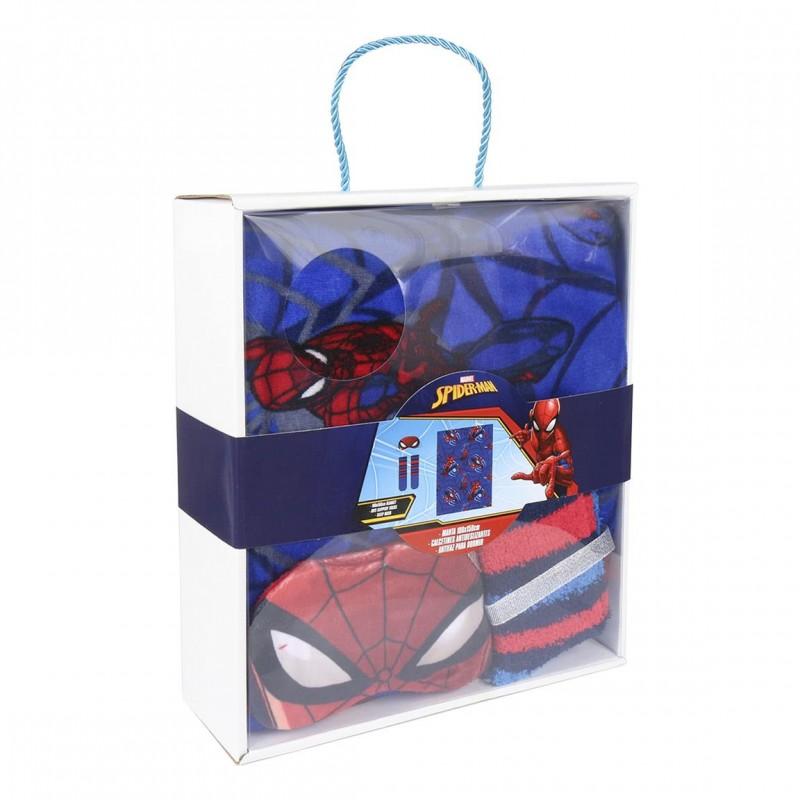 Set cadou Spiderman - paturica, sosete si masca pentru ochi