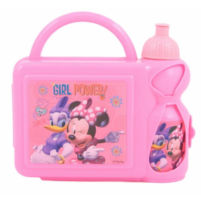 Set cutie pranz si recipient apa Minnie Mouse Disney