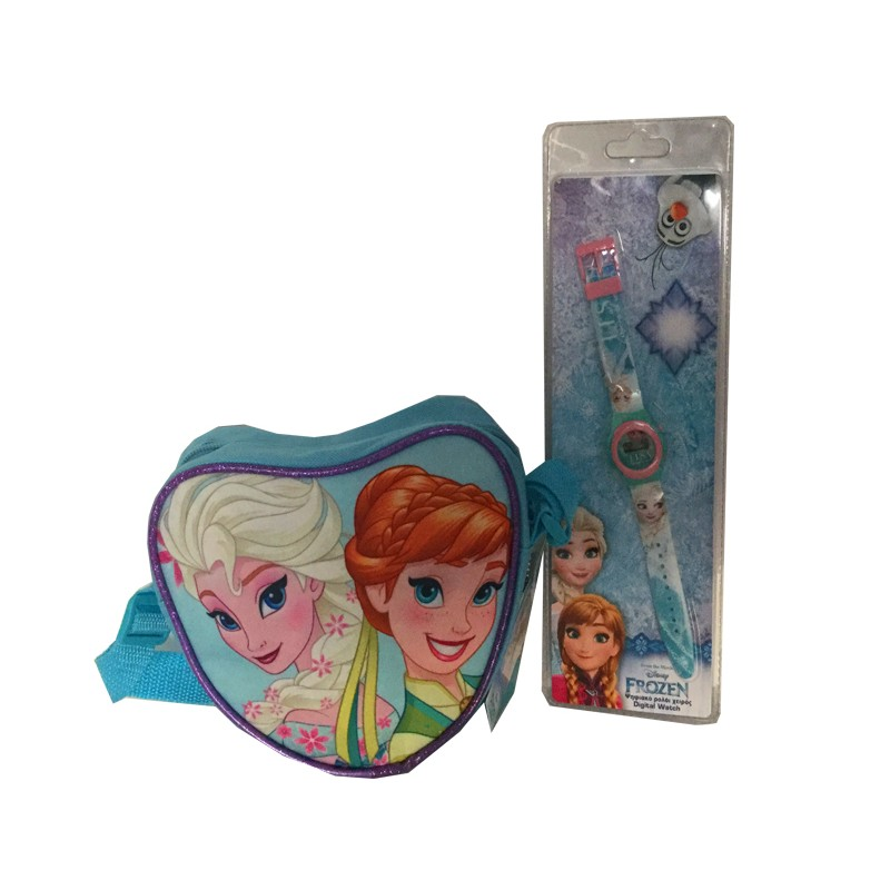 Set gentuta de umar si ceas digital Frozen Disney