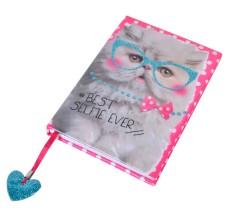 Agenda nedatata design Pisicuta cu ochelari