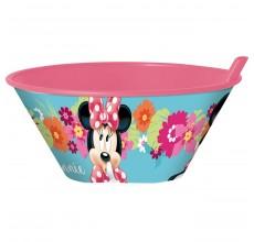 Bol cu pai din plastic Minnie Mouse Disney