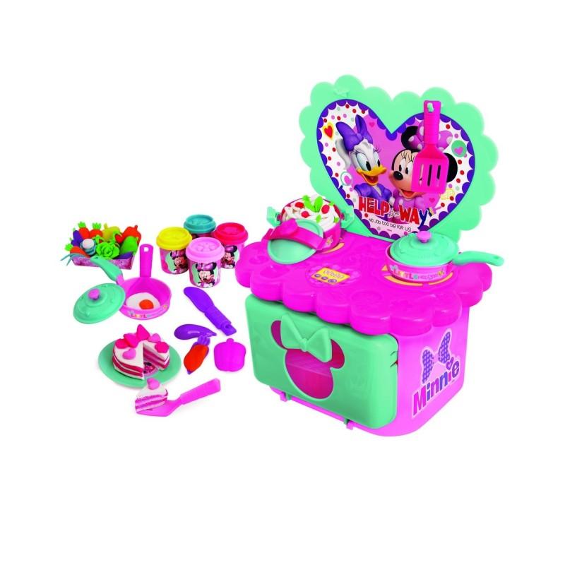 Bucatarie Minnie Mouse Disney cu accesorii si plastilina