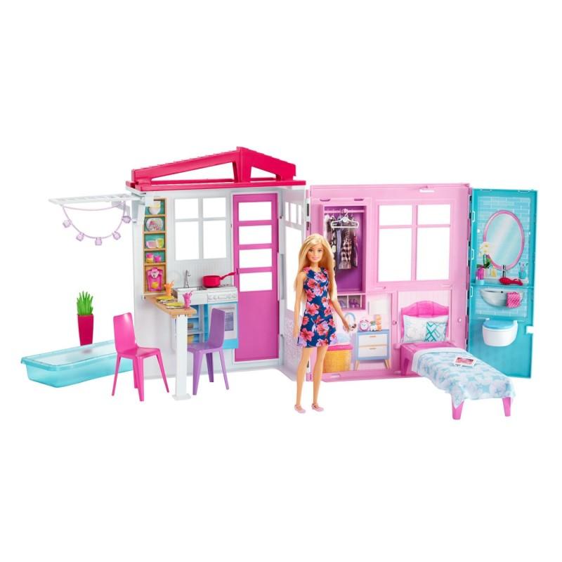 Casuta complet mobilata Barbie cu papusa inclusa