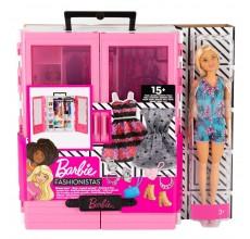 Dulapiorul lui Barbie cu accesorii si papusa