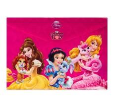 Mapa Princess Disney A4 din plastic cu buton