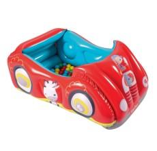 Masinuta gonflabila pentru copii cu bile colorate