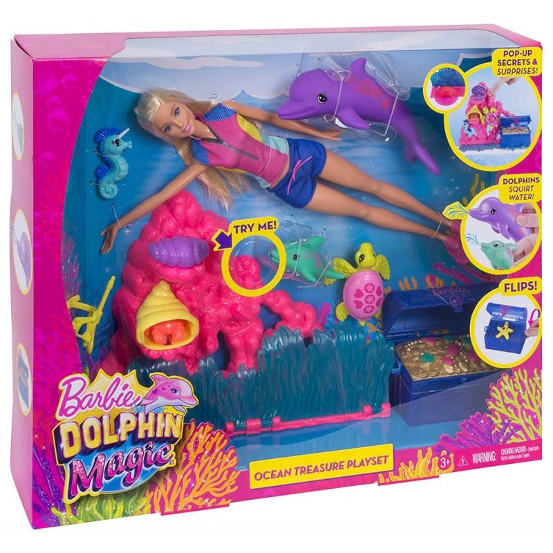 Papusa Barbie Dolphin Magic - Comoara oceanului