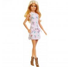 Papusa Barbie Fashionistas - in rochita cu floricele